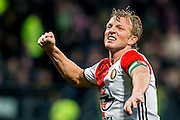 DEN HAAG - ADO Den Haag - Feyenoord , Voetbal , Eredivisie , Seizoen 2016/2017 , Kyocera Stadion , 19-02-2017 , Feyenoord speler Dirk Kuyt viert de 0-1