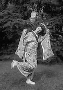 Anna Pavlova Dancing a Japanese Solo at Ivy House, Hampstead Heath, London, England, 1923
