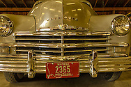 Big Horn County Historical Museum, Hardin, Montana, restored 1949 Plymouth.