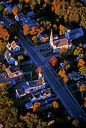 Aerial of Bradford, Vermont, American Northeast