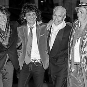 Mick Jagger, Ronnie Wood, Charlie Watts and Keith Richards of The Rolling Stones<br /> UK premiere of 'Shine a light' held at the Odeon Leicester Square - Arrivals<br /> London, England &copy; Antony Jones