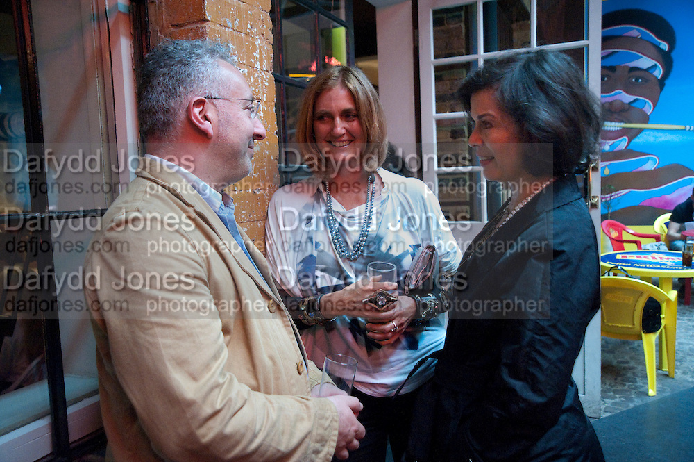 MICHAEL MORRIS; ARCHDUCHESS Francesca von Habsburg; BIANCA JAGGER,  , The Launch of Food for thought, Thought for Food, The Creative Universe of El Bulli's Ferran Adria. Edited by Richard Hamilton and Vincente Todoli. The double Club, 7 Torrens st. London EC1. 22 June 2009