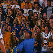 Sanford Warriors fans celebrates in the stands in the final seconds of a Boys Basketball DIAA State Tournament Finals match between the Sanford Warriors and the St. Georges Hawks Saturday, Mar. 12, 2016, at The Bob Carpenter Sports Convocation Center in Newark, DEL.