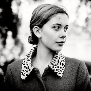 Black & White Portrait of actress, Sorcha Groundsell.