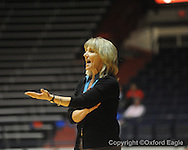 "Ole Miss head coach Renee Ladner vs. Auburn in women's college basketball at the C.M. ""Tad"" SMith Coliseum in Oxford, Miss. on Thursday, February 25, 2010."