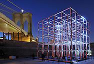 30-foot audiovisual cubic in Brooklyn, New York City.