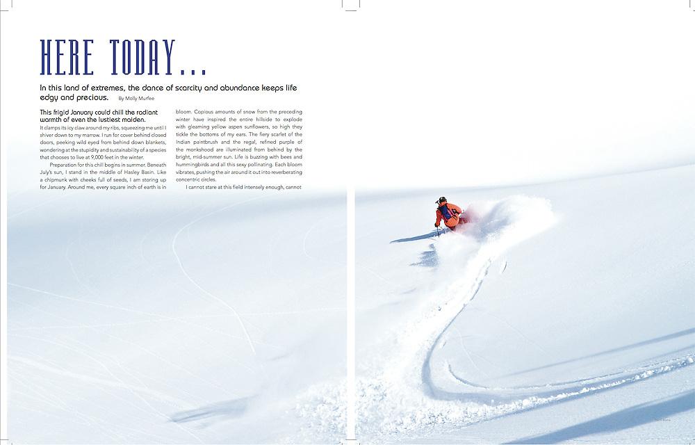 Skier: Will Dujardin<br /> Location: Mt. Axtell<br /> Publication: CB Magazine Winter 11/12