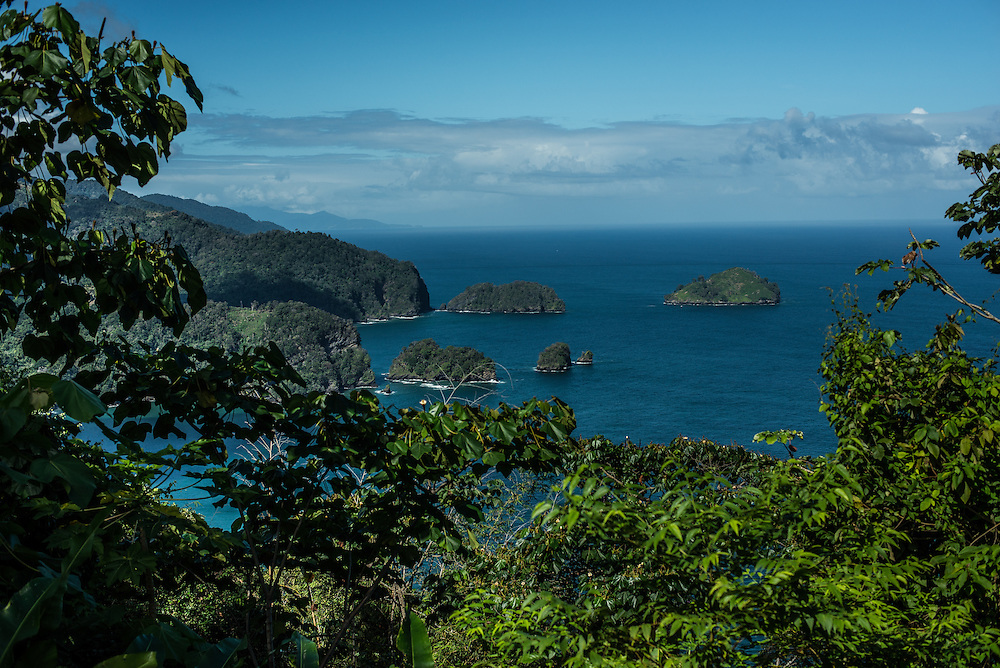MARACAS BAY, TRINIDAD - FEBRUARY 14, 2017:  Gorgeous views from the cliffs' edge down to the water along a narrow road of hairpin turns between Port of Spain and Maracas Bay.  PHOTO: Meridith Kohut for The New York Times