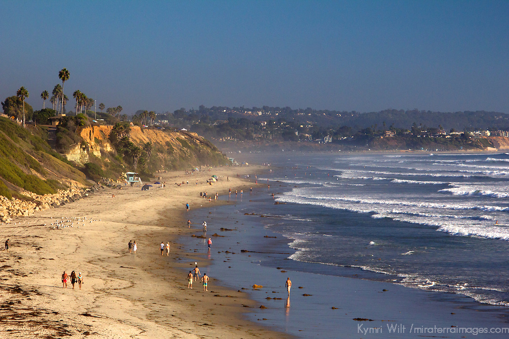 USA, California, San Diego. Swami's Beach, in Cardiff by the Sea (Encinitas).