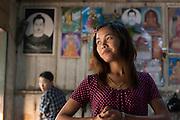 Soe Soe works at a tea shop in Kalaw.