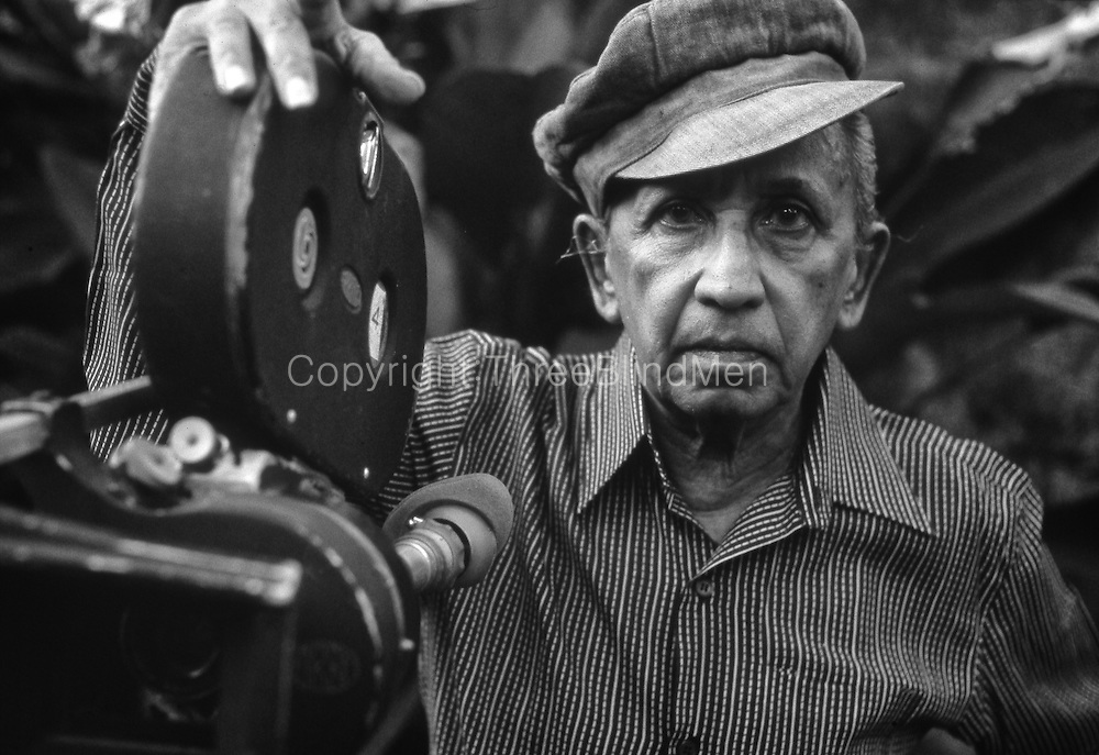Lester James Peries (born 5 April 1919) is an internationally acclaimed Sri Lankan film director, screenwriter, and film producer.<br /> Picture taken in 1988.