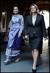 OCT 23 2013 Aung San Suu Kyi with Justine Greening