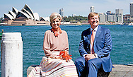 3-11-2016 SYDNEY  posing with the skyline of sydney King Willem-Alexander and Queen Maxima of The Netherlands attend the meeting of the dutch community at the Chrystal Palace in Luna Park in Sydney, Australia, 3 November 2016. The Dutch King and Queen are in Australia for an 5 day state visit. COPYRIGHT ROBIN UTRECHT staatsbezoek van koning willem alexander en koningin maxima aan australie Ontvangst Nederlandse Gemeenschap  Sydney Opera House poseren met de skyline van city <br /> locatie: Luna Park, Chrystal Palace ong