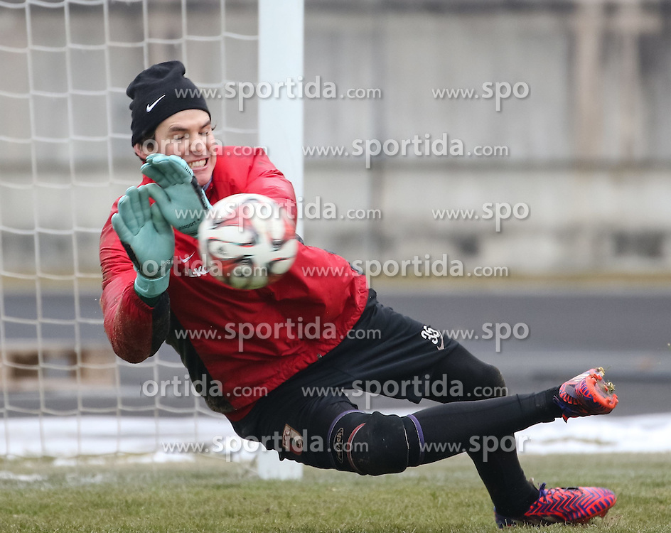 17.02.2015, Trainingsgel&auml;nde, Augsburg, GER, 1. FBL, FC Augsburg, Training, im Bild Marwin Hitz (Torwart FC Augsburg #35) // during a trainingssession of the german 1st bundesliga club FC Augsburg at the Trainingsgel&auml;nde in Augsburg, Germany on 2015/02/17. EXPA Pictures &copy; 2015, PhotoCredit: EXPA/ Eibner-Pressefoto/ Krieger<br /> <br /> *****ATTENTION - OUT of GER*****