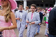The Oaks Day at Churchill Downs in Louisville, Kentucky the day before the 140th Kentucky Derby on May 2, 2014.