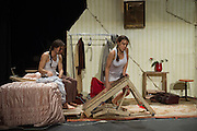 Cie L'Immédiat|Camille Boitel present the UK Premiere of L'Immédiat – sixty minutes of beautifully orchestrated circus-theatre chaos. On a stage crammed with machinery, objects, junk and bric-a-brac of every kind. Performers Marine Broise and Camille Boitel. Barbican, London.