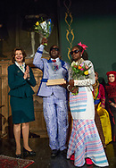 Manuel Rodrigues from Guinea Bissau and Isabel Sane with H.M. Queen Silvia.<br />