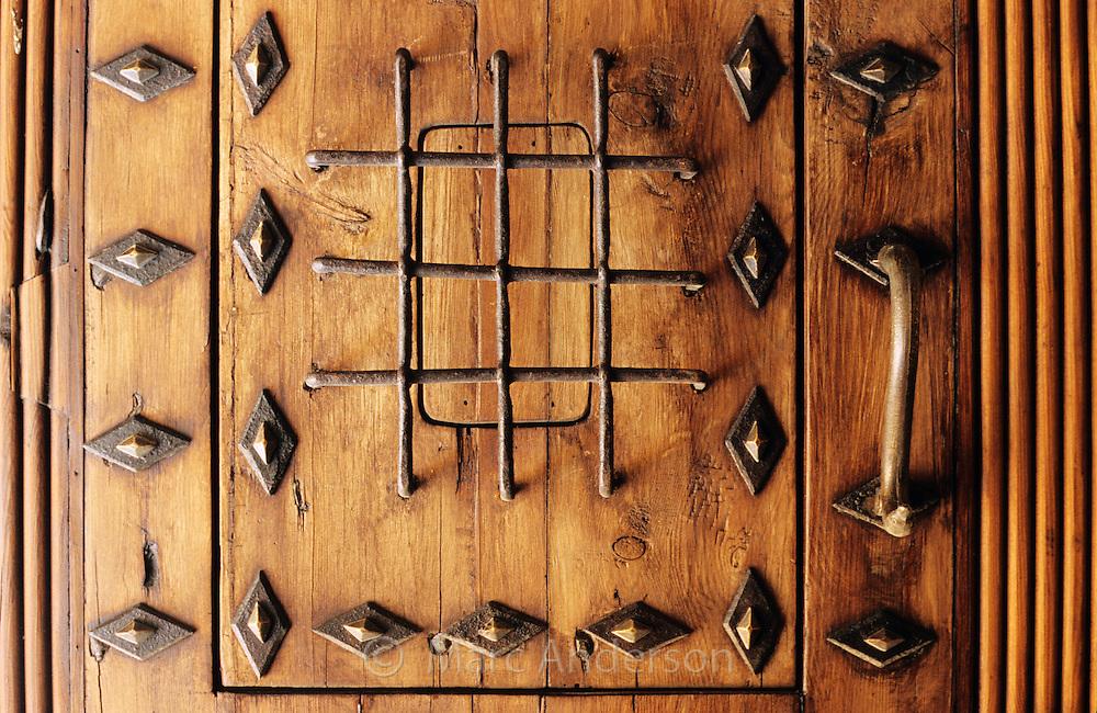 An old studded door, Spain