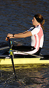 Boston, GREAT BRITAIN, Anna BEBINGTON, competing, in the long distance trial, on Sat,  at Boston RC. Boston, ENGLAND 16/12/2006.  [Photo, Peter Spurrier/Intersport-images]...Lightweight - Men's and Women's single LM1X. LW1X. . Rowing Course: River Witham, Boston, Lincs, Great ENGLAND