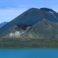 Blue Lake and Ngauruhoe Tongariro NP