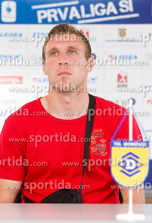 Player Ivan Knezovic at press conference of NK Domzale before new First league season 2010/2011, on July 15, 2010 in Domzale, Slovenia. (Photo by Vid Ponikvar / Sportida)