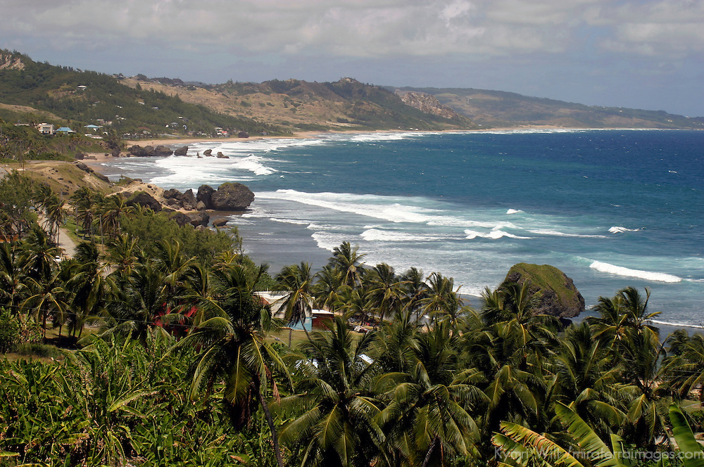 Bathsheba Beach on the east coast of Barbados in the Caribbean.