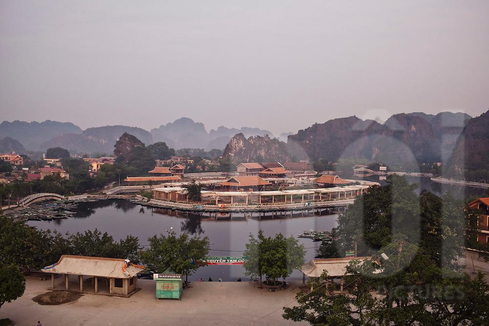 Tam Coc boat ride buildings complex, Ninh Binh, Vietnam, Southeast Asia