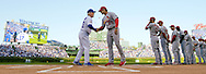 CHICAGO, IL - OCTOBER 12:  Manager Joe Maddon #70 of the Chicago Cubs shakes hands with Cardinals manager Mike Matheny #26 prior to Game 3 of the NLDS against the St. Louis Cardinals at Wrigley Field on Monday, October 12, 2015 in Chicago , Illinois. (Photo by Ron Vesely/MLB Photos via Getty Images) *** Local Caption *** Joe Maddon; Mike Matheny