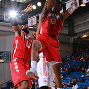 Maine Red Claws Forward MALCOLM MILLER (13) grabs a rebound in the first half of a NBA D-league regular season basketball game between the Delaware 87ers and the Maine Red Claws  Friday, Feb. 05, 2016 at The Bob Carpenter Sports Convocation Center in Newark, DEL.