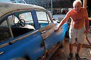 Car in San Antonio de Rio Blanco, Mayabeque, Cuba.