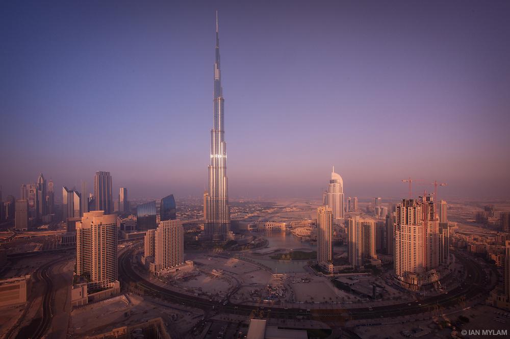 Business Bay and the Burj Khalifa - Dubai, U.A.E.