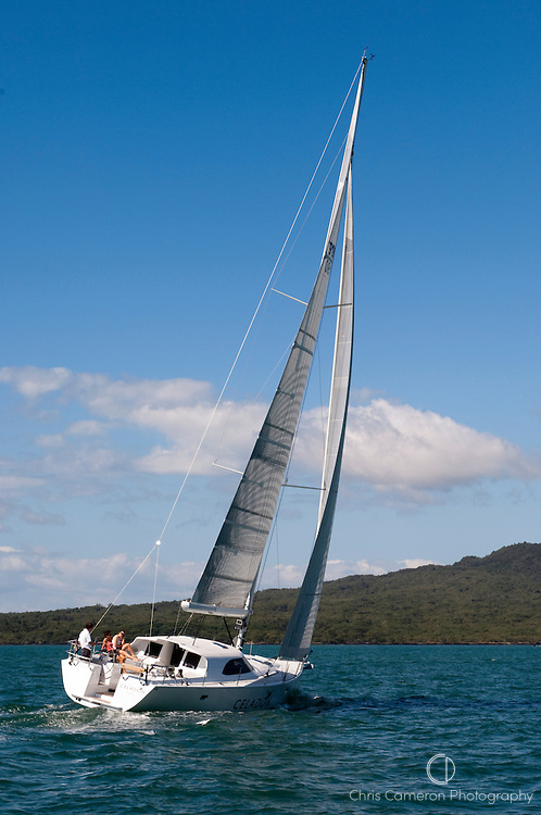 Cruising yacht Celadon on the Hauraki Gulf