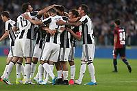23.04.2017 - Torino - Serie A 2016/17 - 33a giornata  -  Juventus-Genoa nella  foto: l'esultanza dei giocatori della Juventus