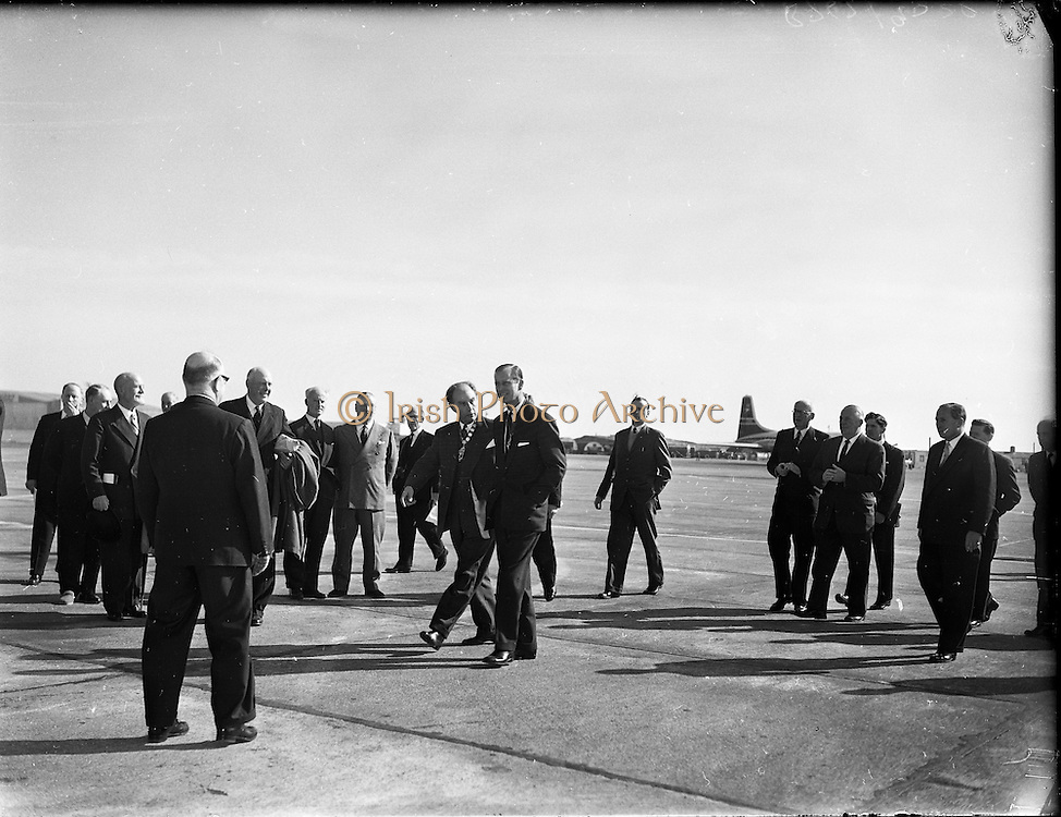 The Duke of Edinburgh at Shannon Airport..14.03.1961