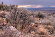 Ladrone Mountain from Albuquerque foothills, HDR image
