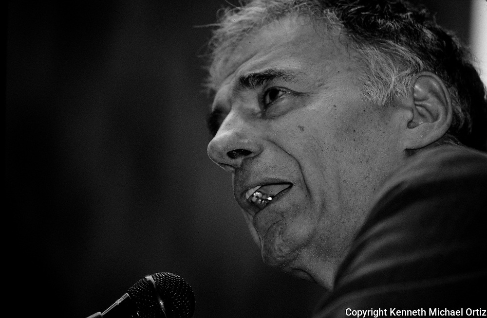 Ralph Nader's Crack down on Corporate Crime Rally in Wall Street in 2002.
