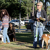 People listen the service during the St. Frances Day Blessing of the Animals Sunday October 5, 2014 at Hugh McRae Park in Wilmington, N.C. The event was sponsored by Good Shepherd Church. (Jason A. Frizzelle)