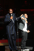 l to r; Steve Harvey and Chanj at Apollo Theater 75th Gala Celebration hosted by Steve Harvey and held at The Apollo Theater on June 8, 2009 in the Village of Harlem, NYC