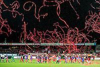 ROTTERDAM - SBV Excelsior - Feyenoord , Voetbal , Seizoen 2015/2016 , Eredivisie , Stadion Woudestein , 28-11-2015 , Opkomst van de spelers