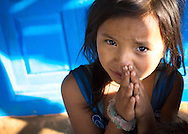 A young girl on the streets of Num, a small Himalaya town near Mount Makalu, Nepal.