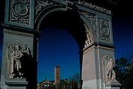 Washington Square Arch, designed by McKim Mead & White, Washington Square Park, Greenwich Village, New York, New York