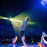 Connor Ball of The Vamps performs on stage at The SSE Hydro on April 17, 2015 in Glasgow, United Kingdom