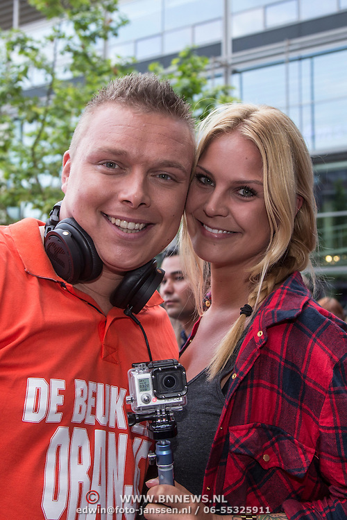NLD/Amstelveen/20140610 - TROS Muziekfeest op het Plein 2014 Amstelveen, Dj Tony Star en partner Yildiz Siskens