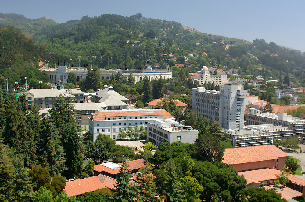 view from Sather Tower at Berkeley University of California, Berkeley, California, United States of America