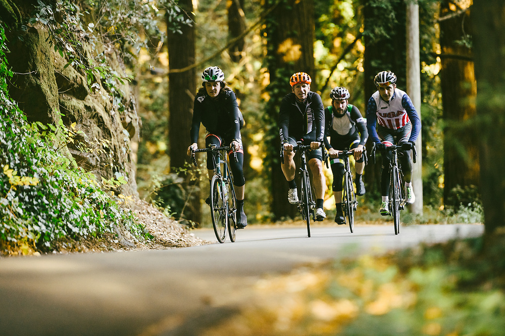 """Going up Old La Honda. """"Ride In The Redwoods"""" 
