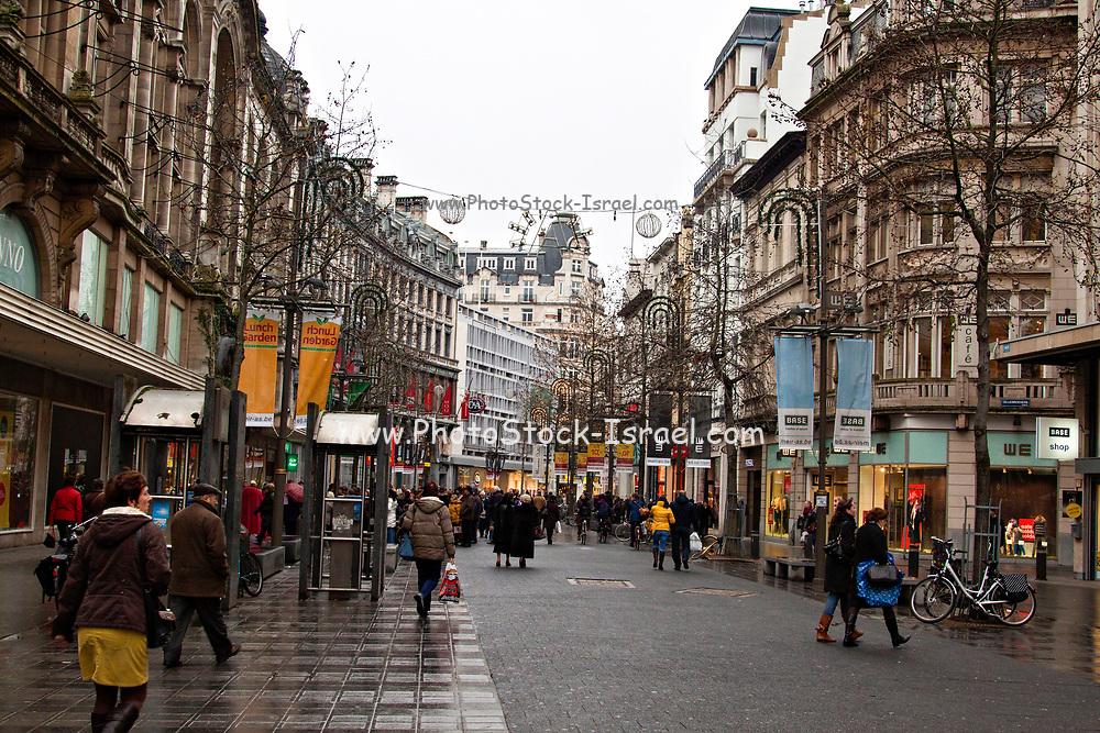 The Meir shopping street in Antwerpen, Belgium