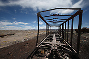 "Just outside of Uyuni, in south-west Bolivia, is a train graveyard - the railway was built by the British in the late 19th Century for the mining industry. It was sabotaged by the locals who believed it was intrusive. In the 1940s the mining industry collapsed and the trains were abandoned, leaving this ""Train Graveyard"""