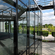 Modern office building exterior detail