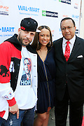 """DJ Drama, Valiesha Butterfield and Dr. Benjamin Chavis Muhummad at the Hip-Hop Summit's """"Get Your Money Right"""" Financial Empowerment International Tour draws hip-hop stars and financial experts to teach young people about financial literacy held at The Johnson C. Smith University's Brayboy Gymnasium on April 26, 2008..For the past three years, hip-hop stars have come out around the country to give back to their communities. Sharing personal stories about the mistakes they've made with their own finances along the way, and emphasizing the difference between the bling fantasy of videos and the realities of life, has helped young people learn the importance of financial responsibility while they're still young. With the recent housing market crash in the United States affecting the economy, jobs, student loans and consumer confidence, young people are eager to receive sound financial advice on how to best manage their money and navigate through this volatile economic environment.."""