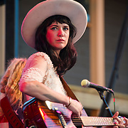 Nikki Lane performing at the Heartbreaker Banquet 2015, Austin, Texas, March 18, 2015.  The Heartbreaker Banquet was presented by Electric Lady Studios and Robot Fondue and held at Willie Nelson's Luck, Texas western town.